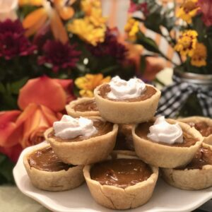 vegan pumpkin pie'lettes'
