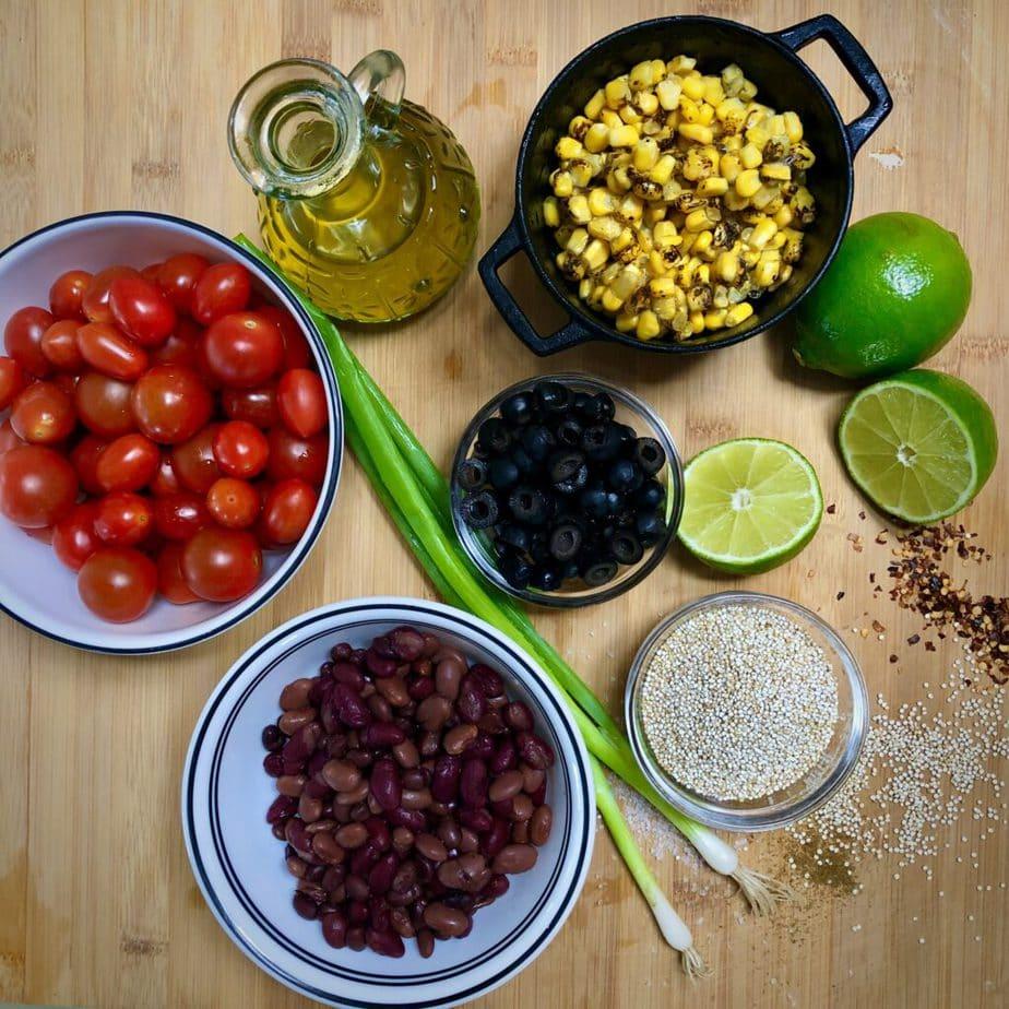 easy vegan quinoa salad ingredients