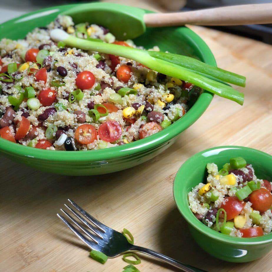 easy vegan quinoa salad