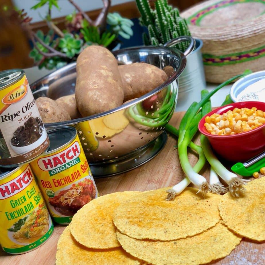 vegan potato enchilada casserole ingredients