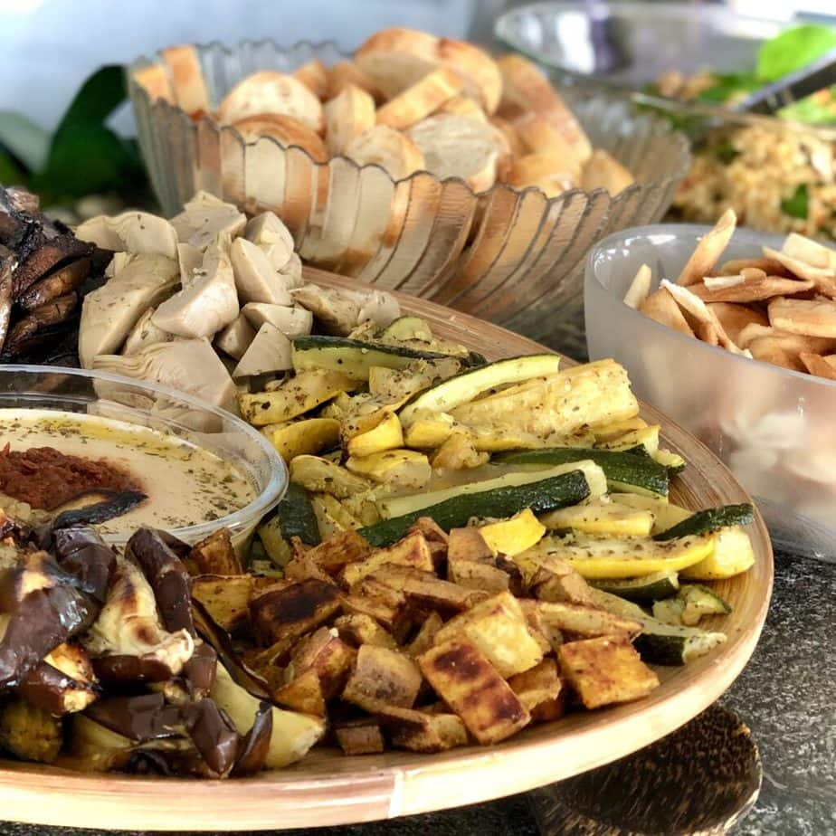 vegan mediterranean roasted veggies