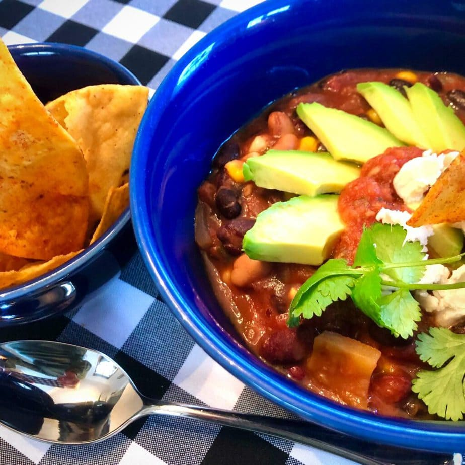 Simply great vegan chili recipe