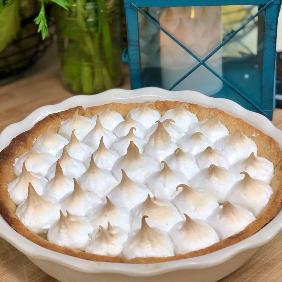 vegan lemon meringue pie