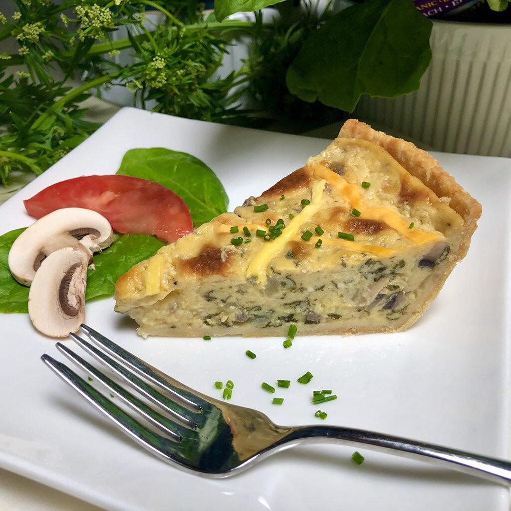 best vegan spinach mushroom quiche