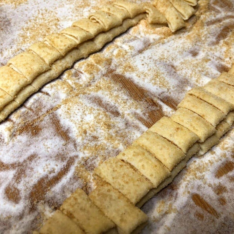 making vegan palmier pastries