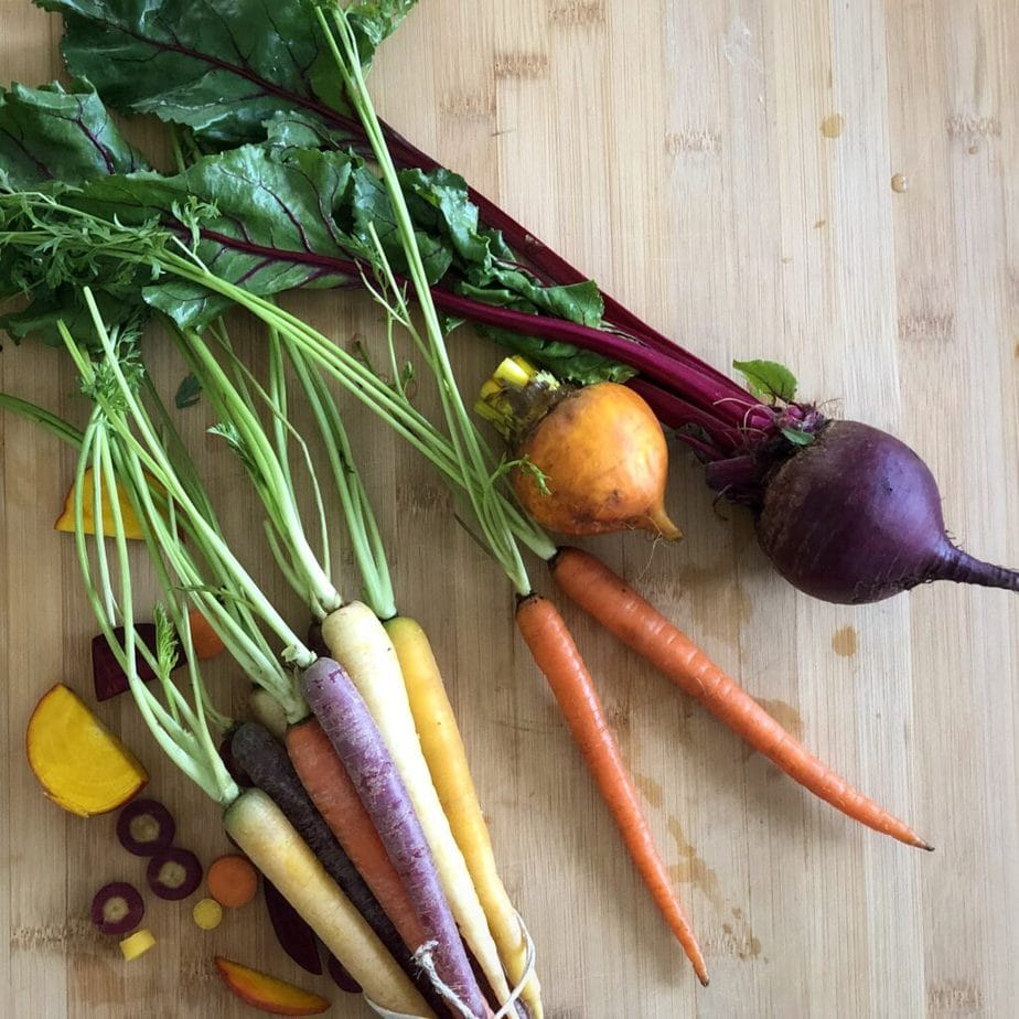 rainbow carrots and beets