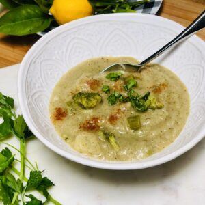 Vegan Cream of Potato Broccoli Soup