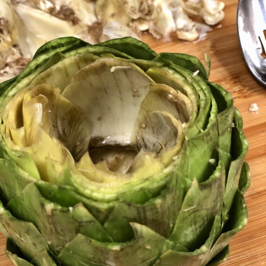 Artichoke with core removed