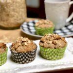 vegan banana oat muffins
