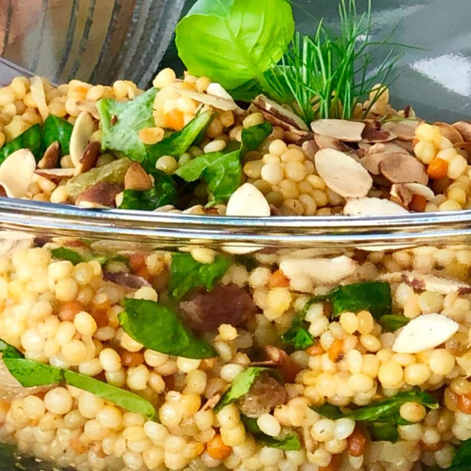 vegan israeli couscous salad