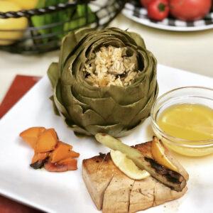 vegan stuffed artichokes