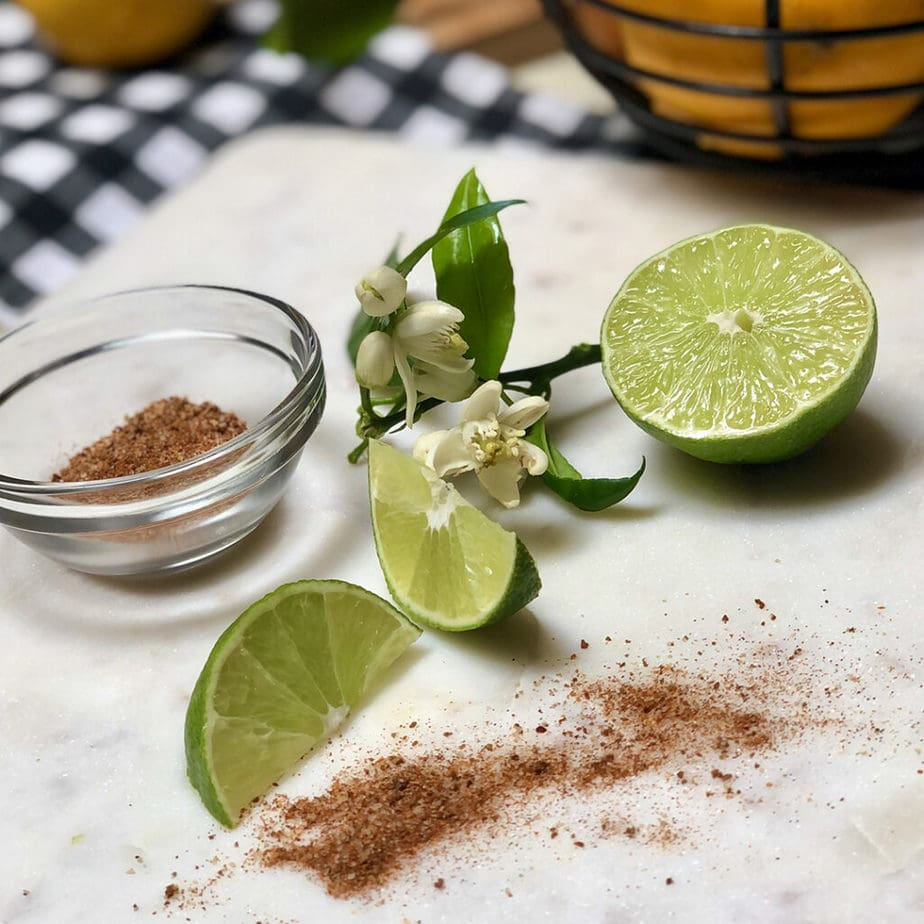 fresh limes and chile lime seasoning