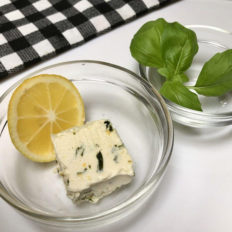 vegan lemon basil infused butter