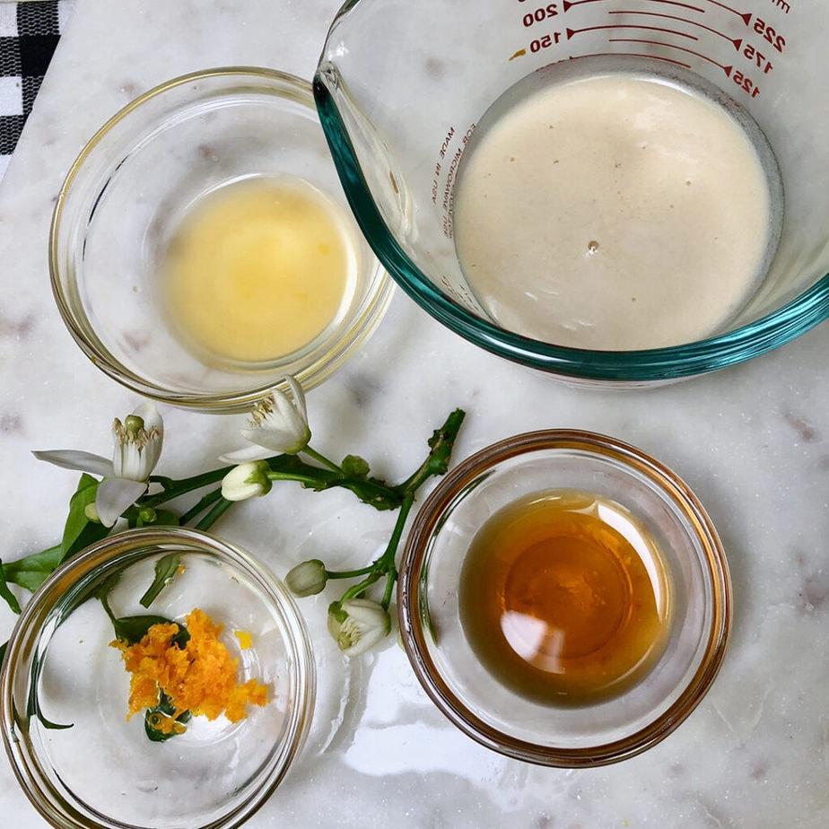 ingredients for orange maple vegan butter