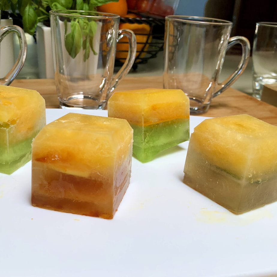 citrus iced tea cubes