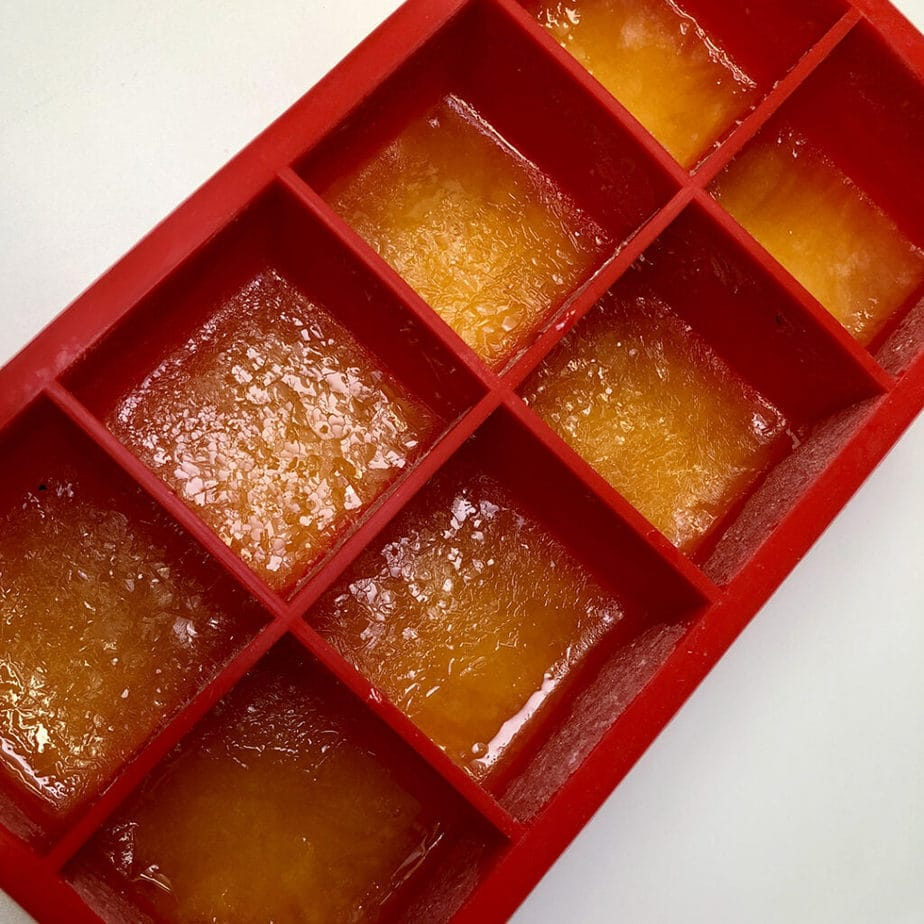 frozen orange juice ice cubes