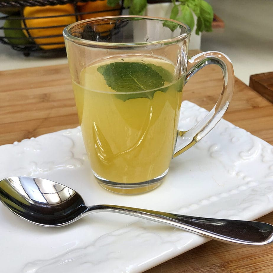 orange lemon green tea with mint