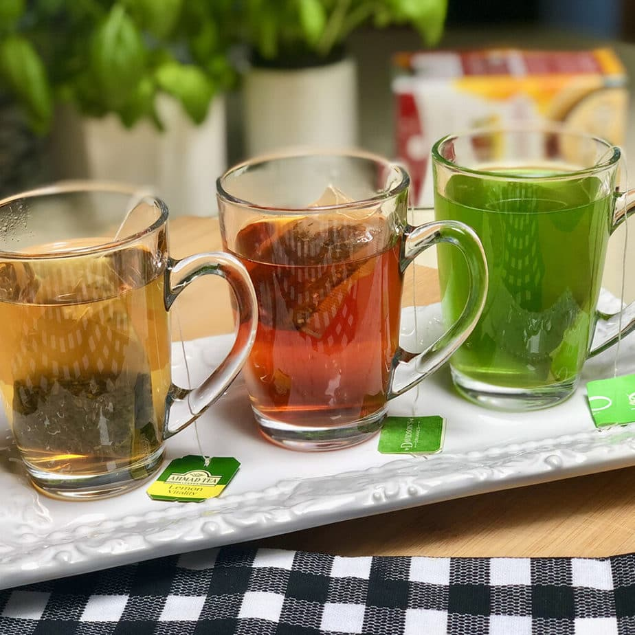 green and herbal teas