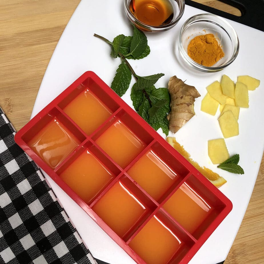 orange juice ice cube tray