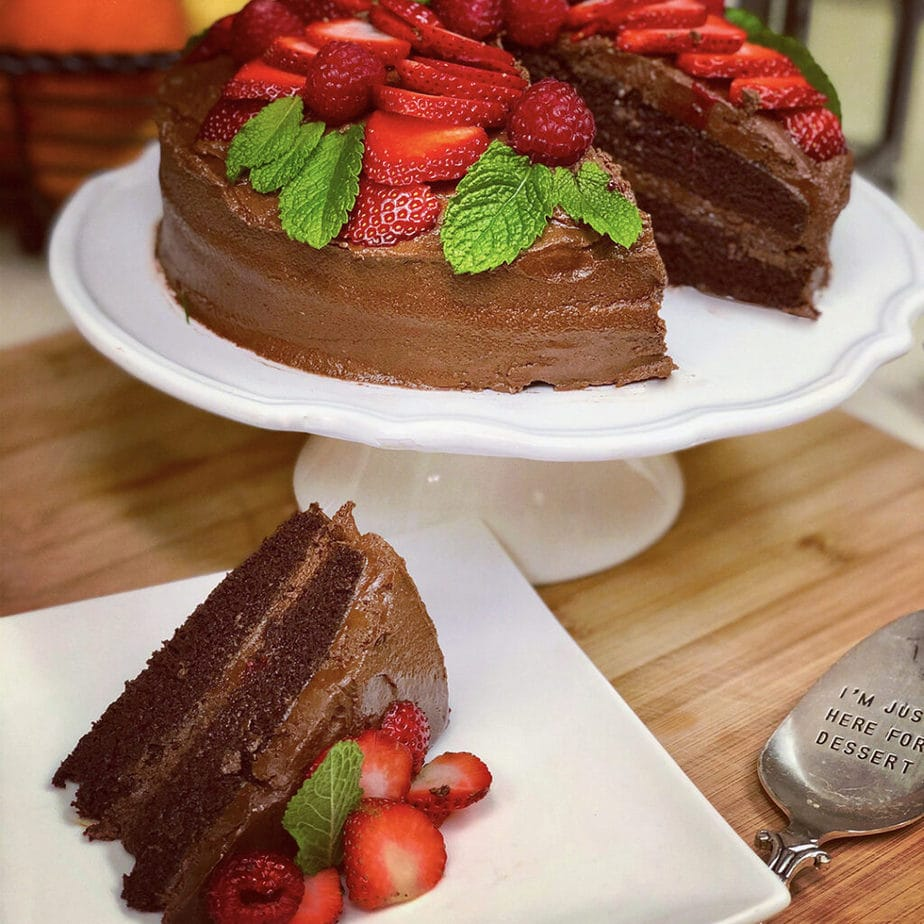vegan devil's food cake