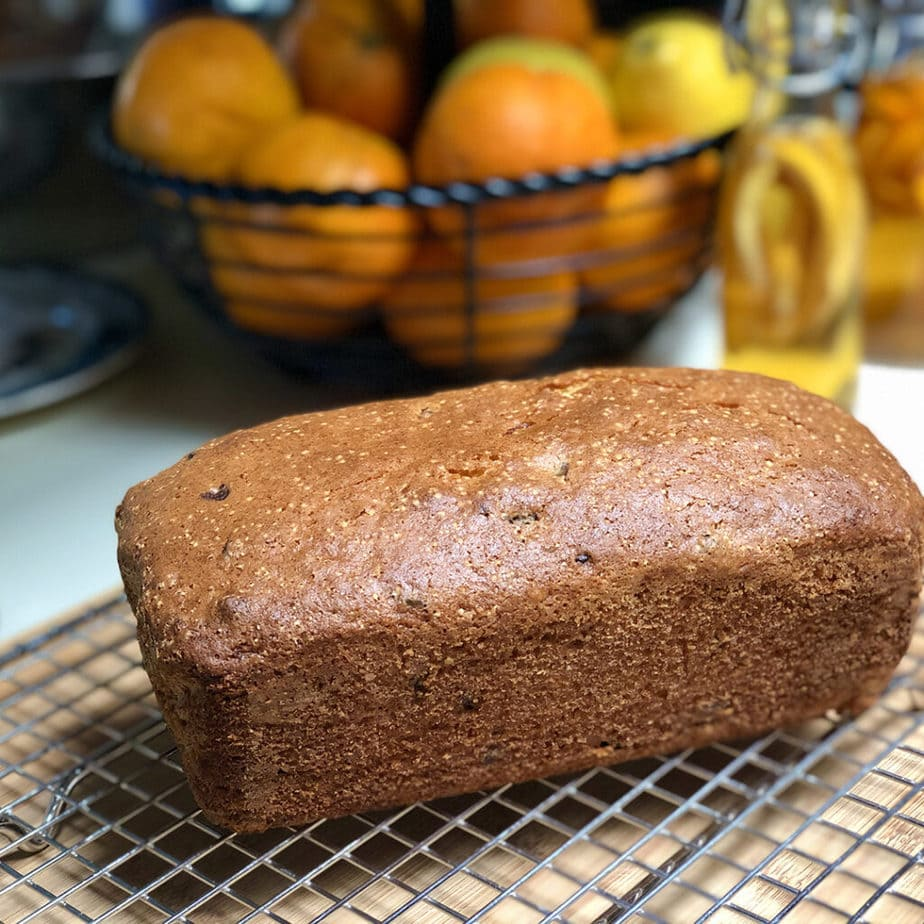 vegan orange cranberry bread