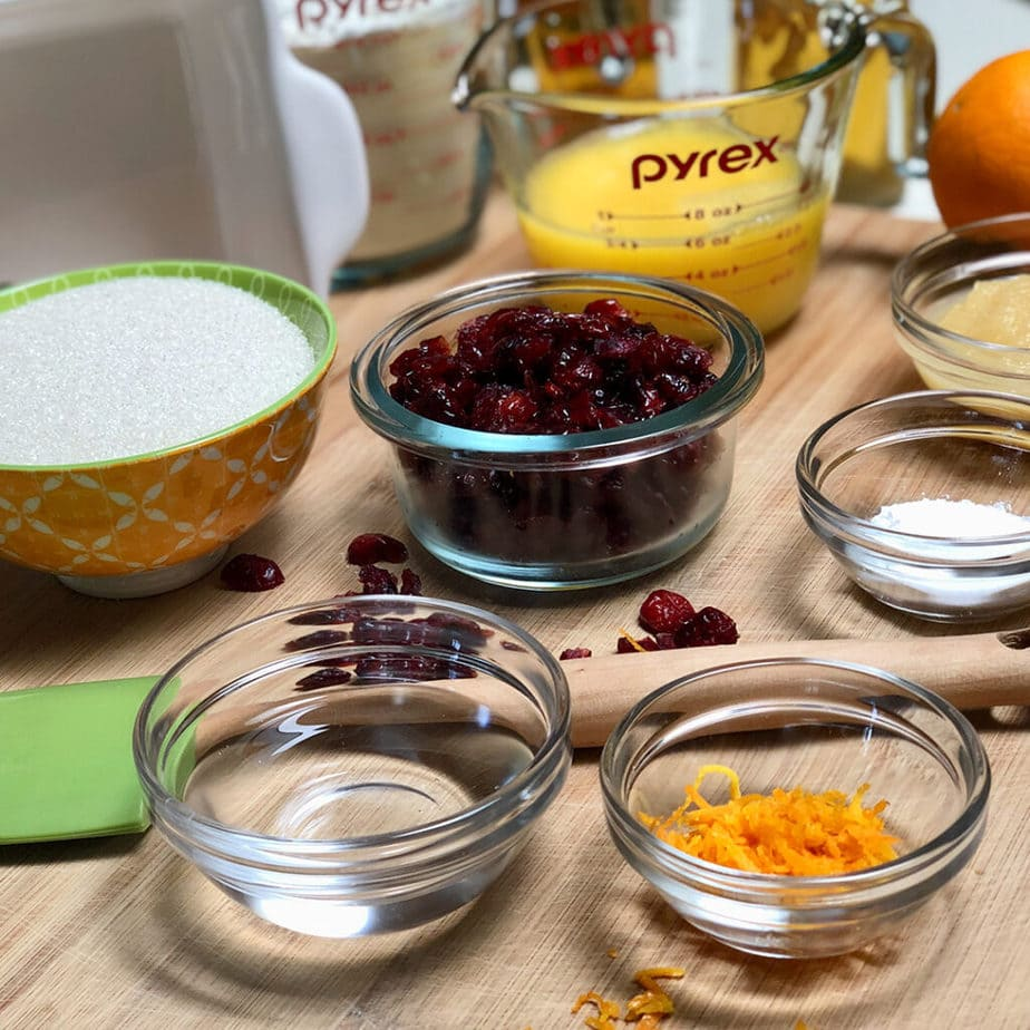 vegan orange cranberry bread ingredients