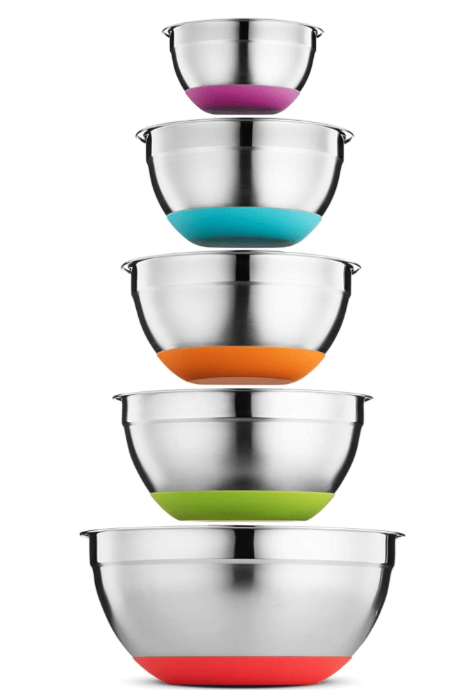Nesting stainless bowls