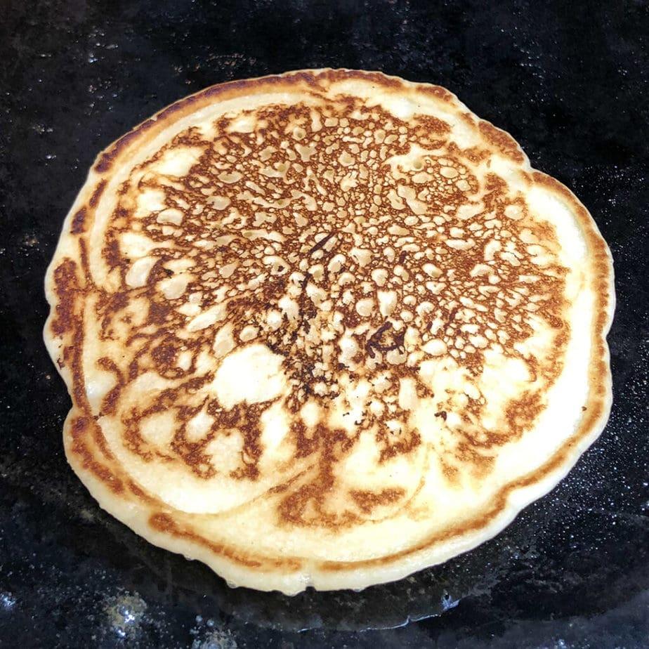 easy perfect vegan pancake cooking