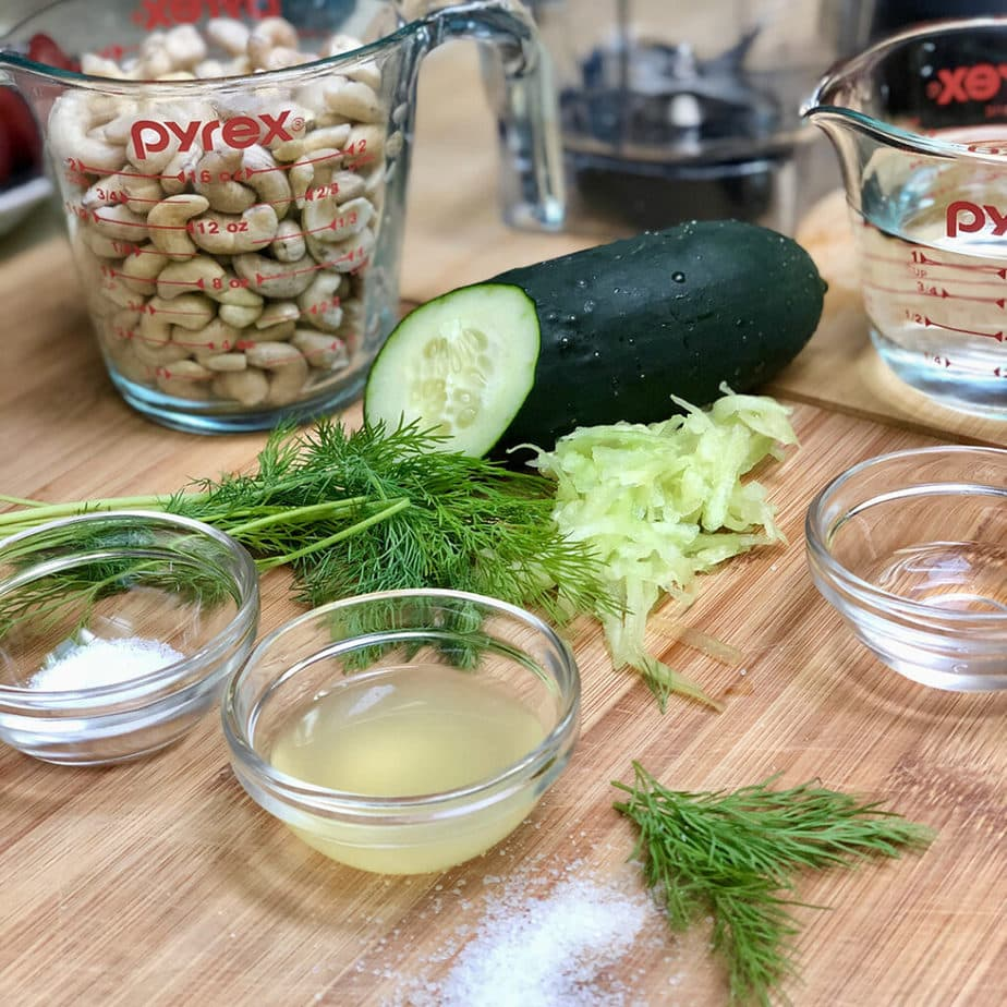 vegan tzatziki sauce ingredients