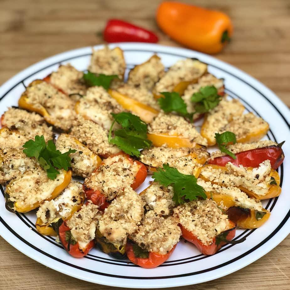 easy cheesy vegan pepper poppers