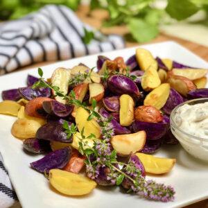 vegan lemon roasted potatoes