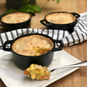 vegan easy cheesy broccoli pot pie
