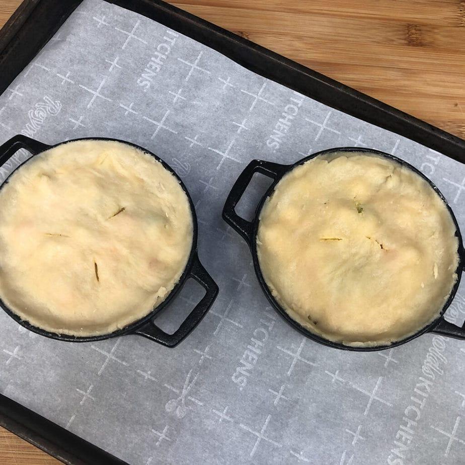 vegan easy cheesy broccoli pot pie ready to bake