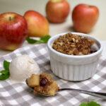 vegan apple crisp and apples